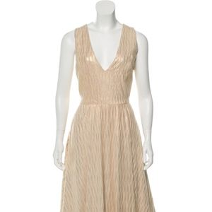 Alice + Olivia Metallic A line dress
